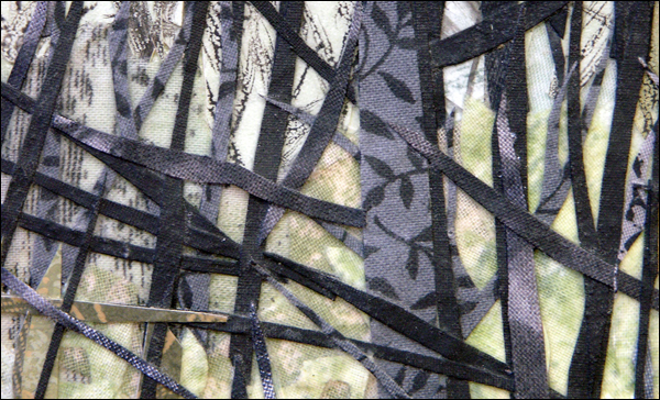 Collage In Fabric Laura Breitman Mixed Media Collage