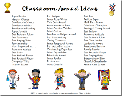 classroom awards make kids