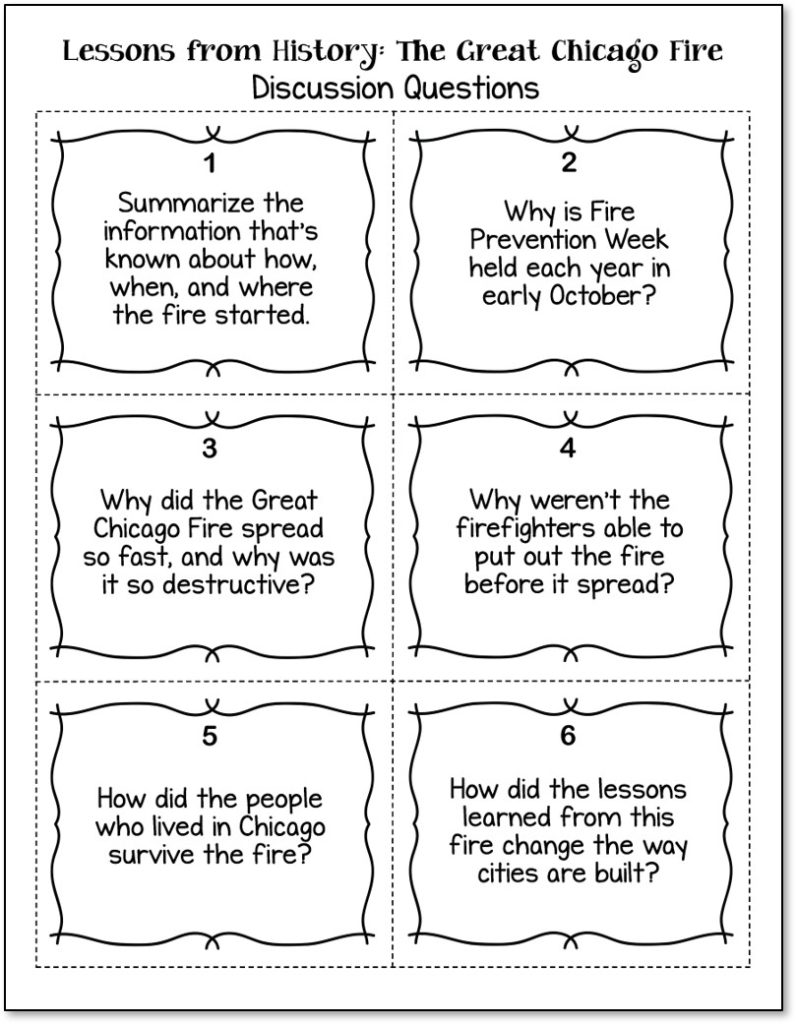 hight resolution of The Great Chicago Fire: Free Upper Elementary Resources