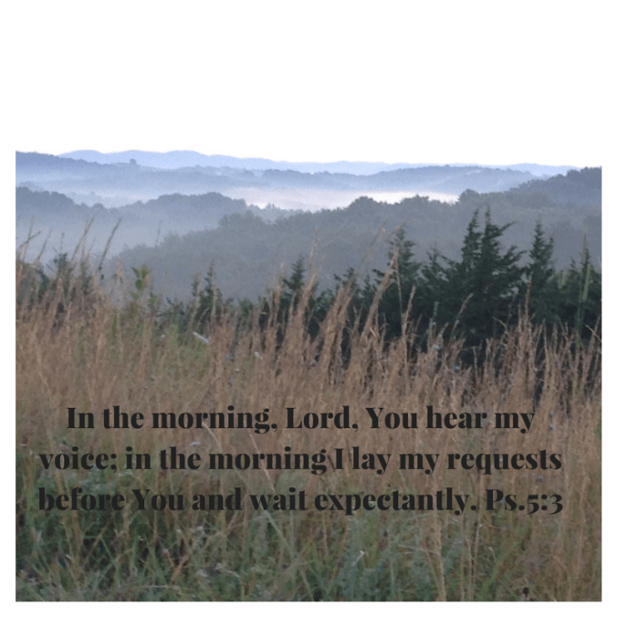 In the morning, Lord, you hear my voice;