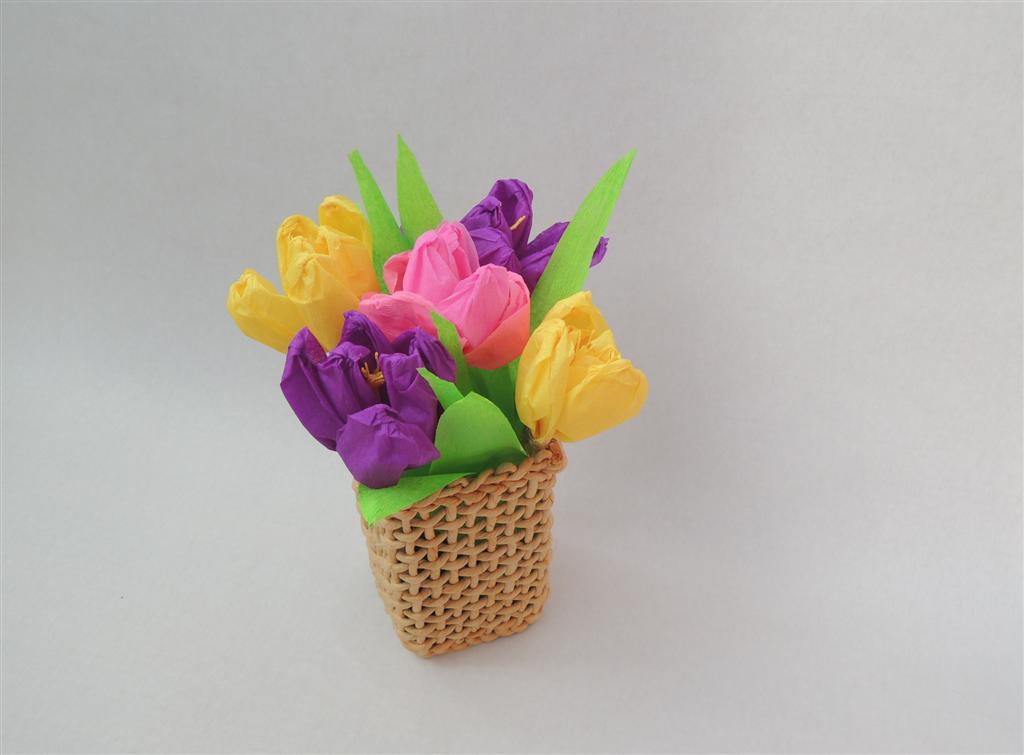 Flori Din Hartie Creponată Branduse De Primăvară