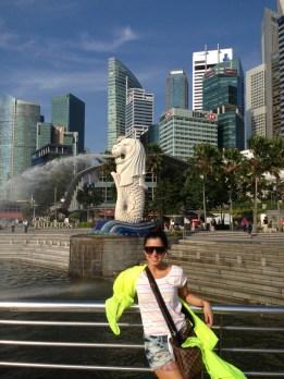 """El """"Merlion Park"""" Figura representativa de Singapur"""