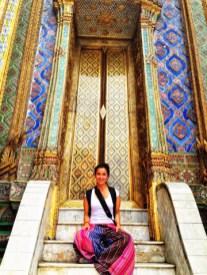 Escalera en Placio Real... ¿ ya vieron mis pantalones Thai?