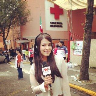 Transmisión especial de Televisa Radio en Cruz Roja