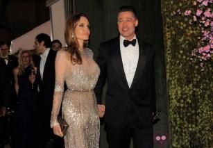 Angelina Jolie y Brad Pitt en la fiesta Governors Ball tras los Oscar 2014