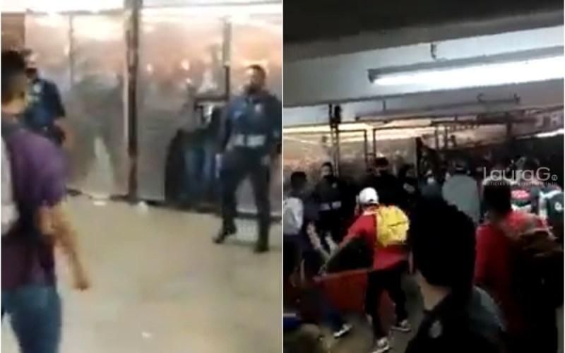 Pelea entre policías