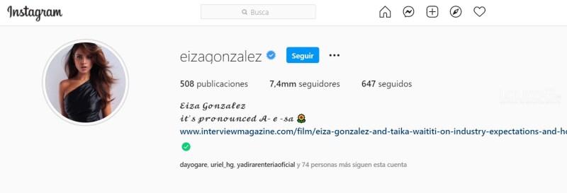 Eiza González Instagram