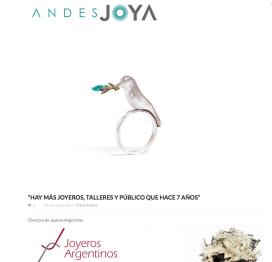 Entrevista en la publicación en Línea Andes Joya 15 / 07 /2015