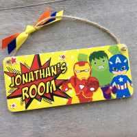 Personalised Superhero Plaque/Bedroom Door Sign - Laura ...
