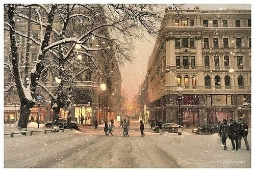 Snowy Evening, Helsinki, Finland