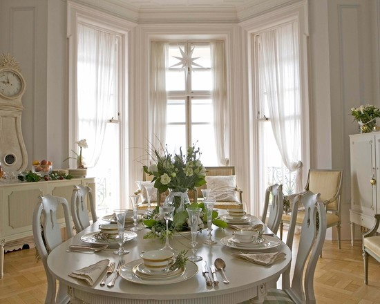 Swedish Interior Design White Gustavian Living Room