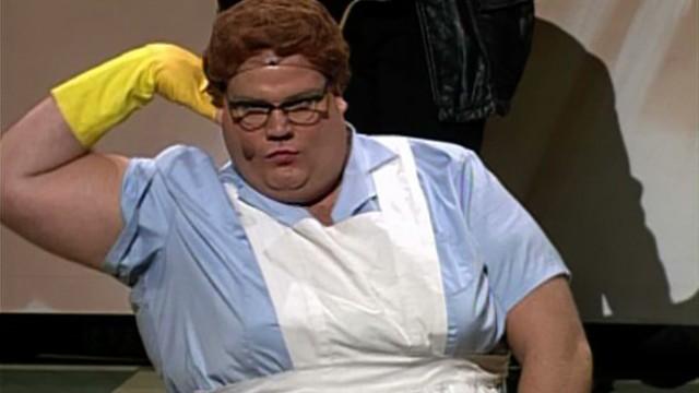 Chris Farley lunch lady