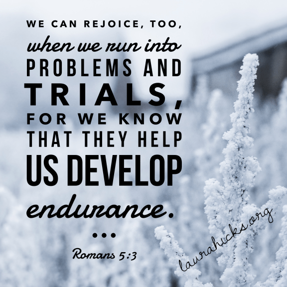 Problems help us develop endurance. Endurance helps us develop character!
