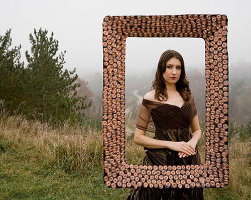 Iconic Masterpiece Mona Lisa. Soul Artist Laüra Hollick as the Mona Lisa