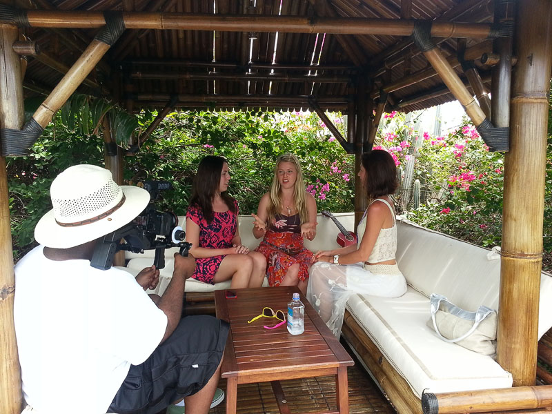 My Goddess Sisters being interviewed by Renee Airya about our experiences on Necker Island.
