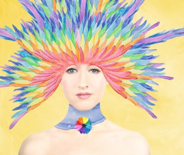 Laüra Hollick Rainbow Headdress