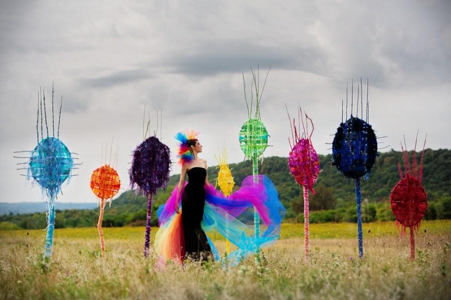Laüra Hollick with Rainbow Totems