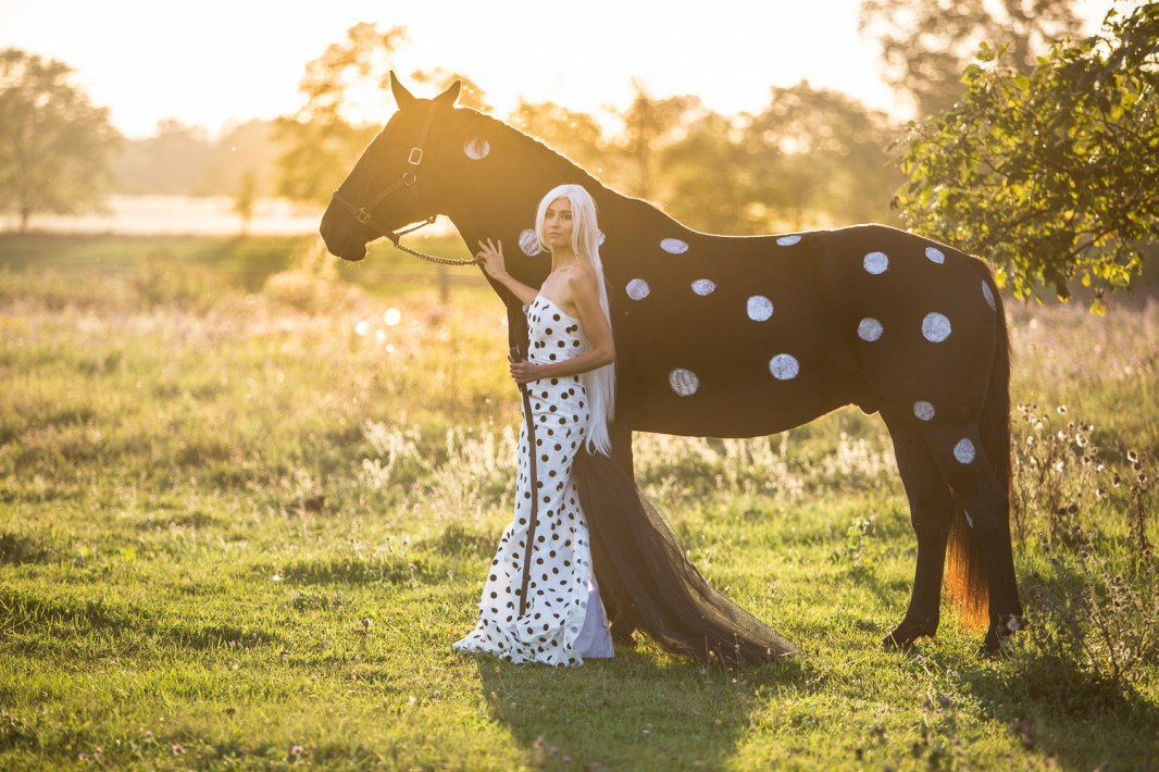 Laüra Hollick with Polka Dot Horse