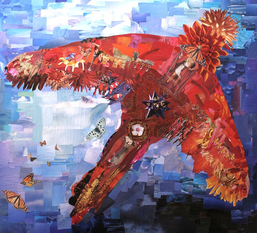 Lauüa Hollick Red BIrd Soul Art Collage