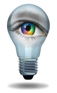 Eye inside a bulb. Image credit: http://www.123rf.com/profile_lightwise