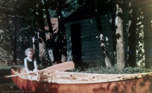 In canoe, about age 3.