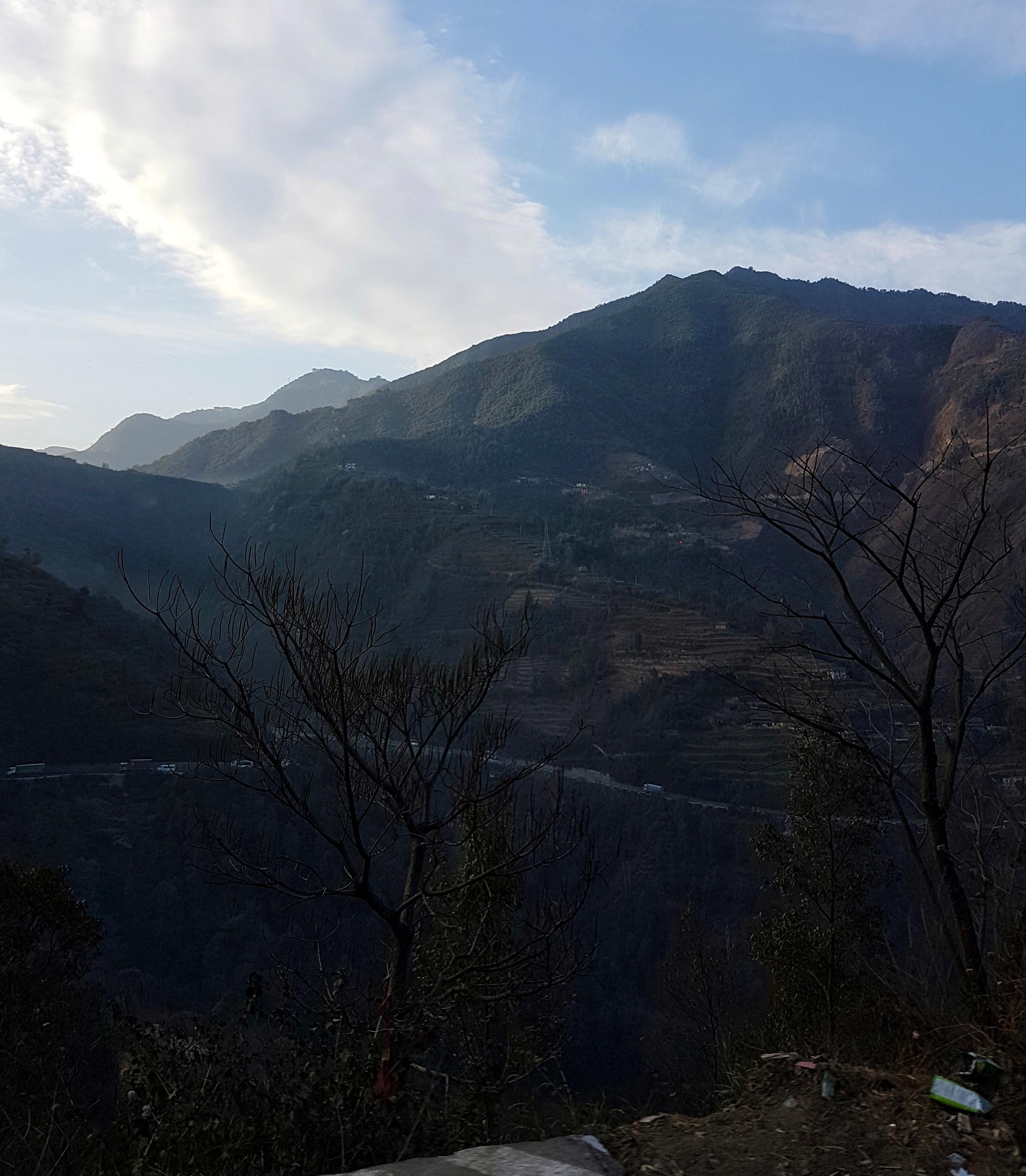 Highway, Nepal, busride, Busfahrt