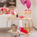 Valentine S Day Bar Cart Decor Ideas Home Decor Laura Lily