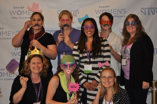 Sharp Women's Health Conference, 2012.  Bloggers having fun!