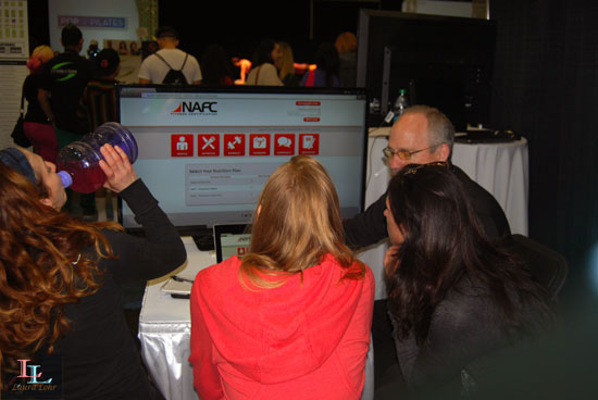 At the Fitness Career Center, a representative demonstrated how awesome the fitness and nutrition coaching software is.