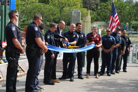 Carlsbad police and fire were an important part of the ribbon cutting ceremony.