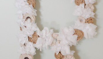 How to make a fabric flower letter diy rustic letter with fabric diy tutorials a recap from the blog mightylinksfo Images