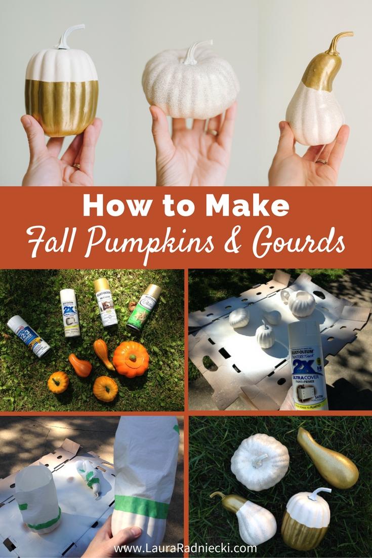 DIY Fall Pumpkins and Gourds  A Tutorial  Fall Home Decor