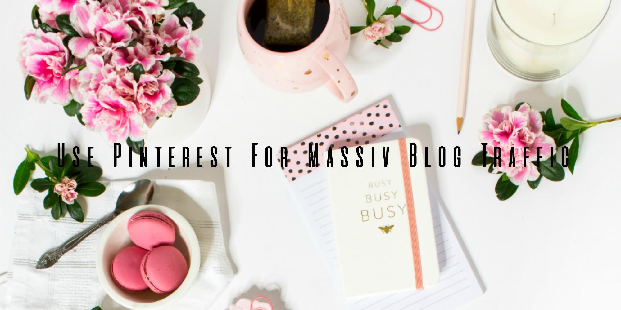 use pinterest for massiv blog traffic banner laura rebecca jonas