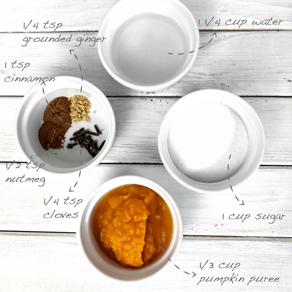 ingredients pumpkin spice sirup