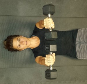 supine dumbbells press exercise