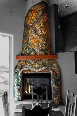 Range Cafe Fireplace Bernalillo