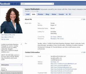Facebook Info Tab Contact