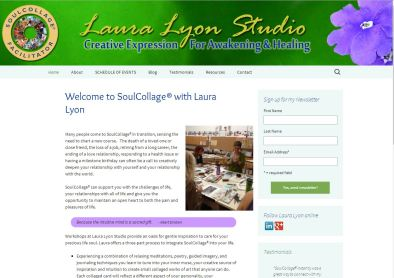 art collage workshop site