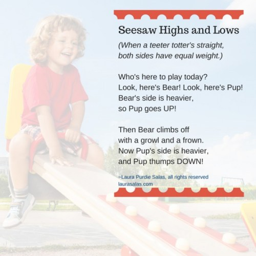 Seesaw Highs and Lows, a poem about balance