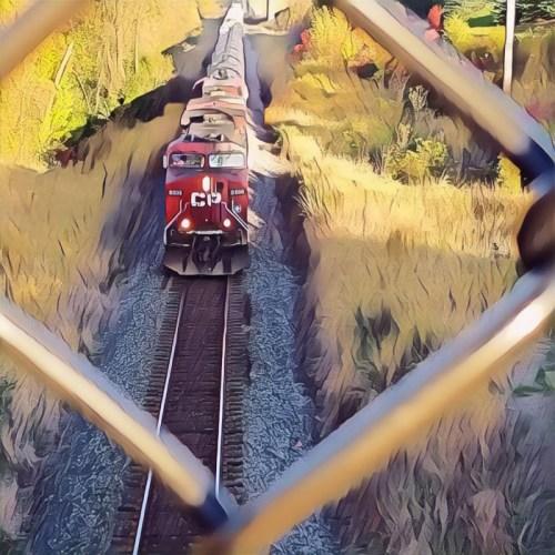Train Through Fence