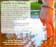 Puddle Is a Word