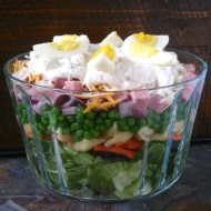 Layered Basil Salad