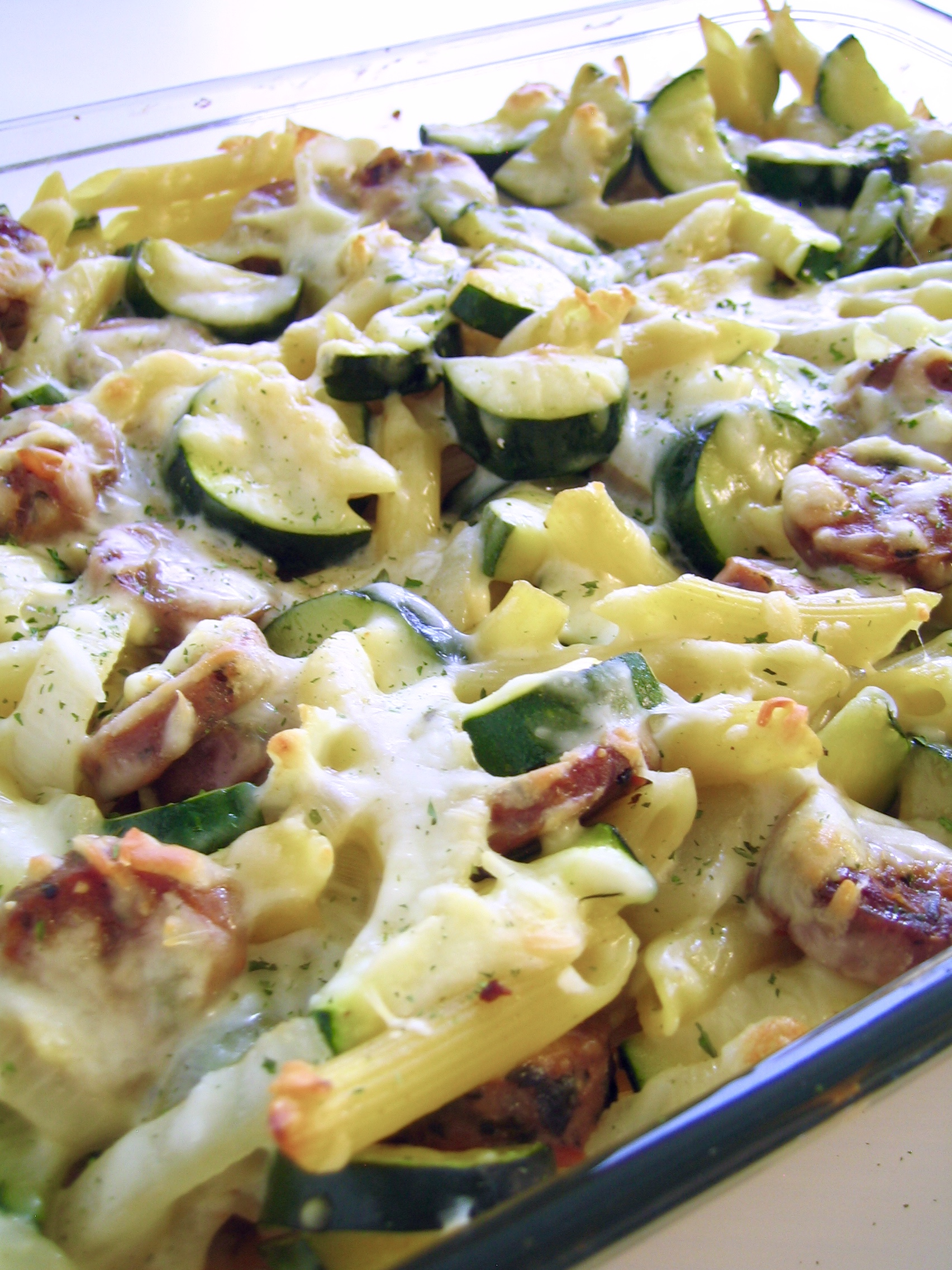 Zucchini, Sausage, and Feta Casserole  Lauras Cozy Kitchen