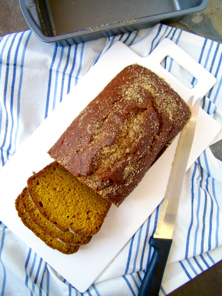 simple pumpkin loaf bread cake