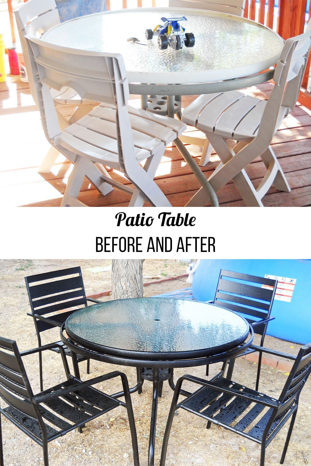 how to patio table makeover
