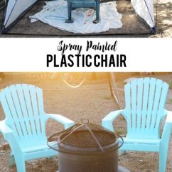 How To Paint Plastic Chairs Blue Chair And A Half Spray Laura S Crafty Life Painted Easily Give Your Patio Furniture Refresh With