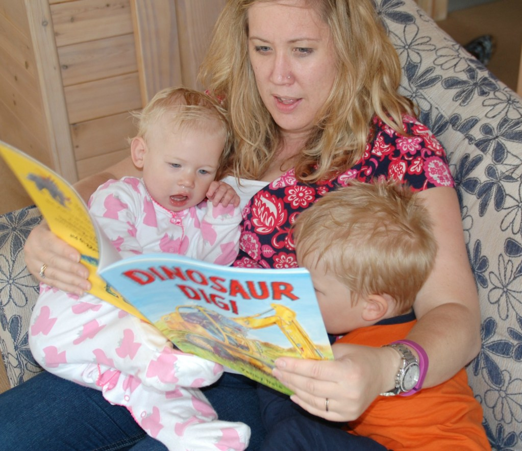 me reading with my babies