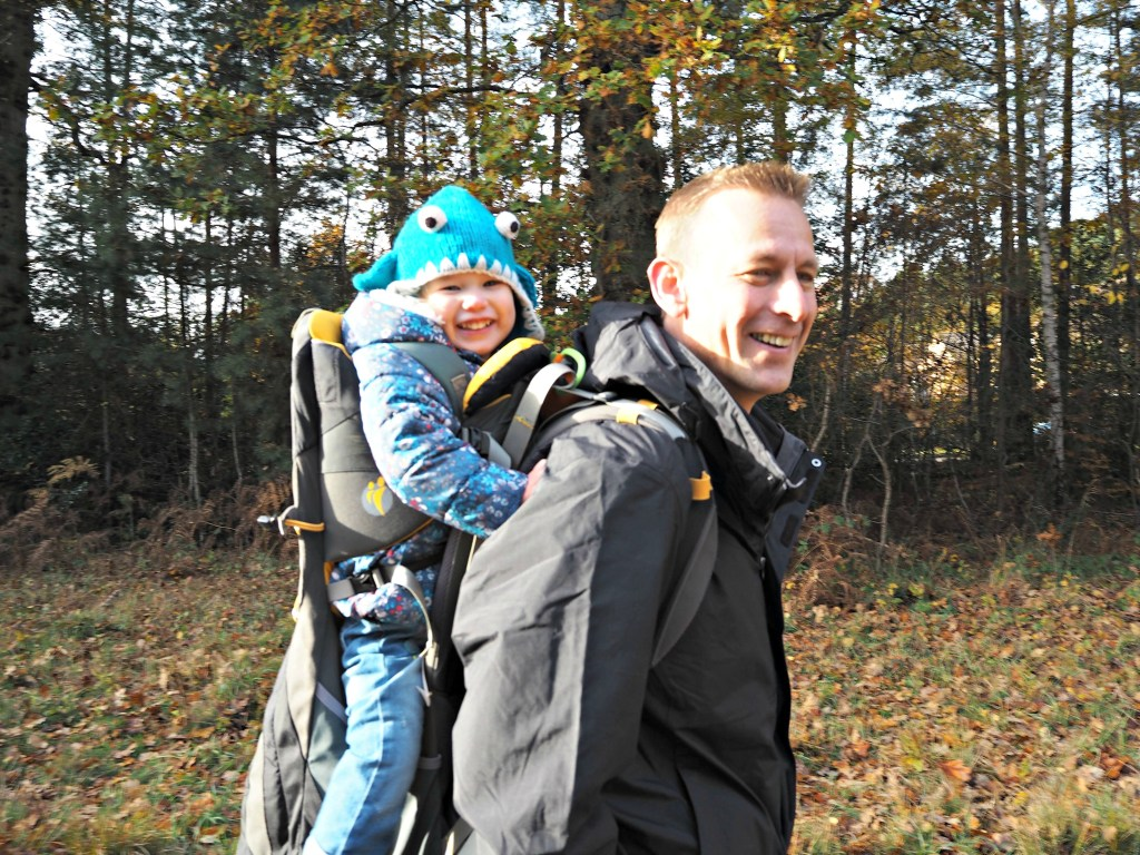 North Face Evolution II Triclimate 3 in 1 Jacket review - with Aria in carrier