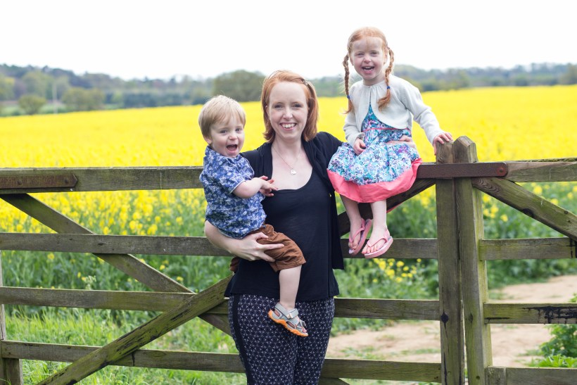 Donna from What the Redhead Said with her children