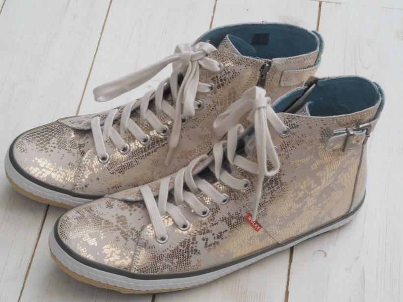 Wolky 1225 Biker Shoes Review - silver metallic
